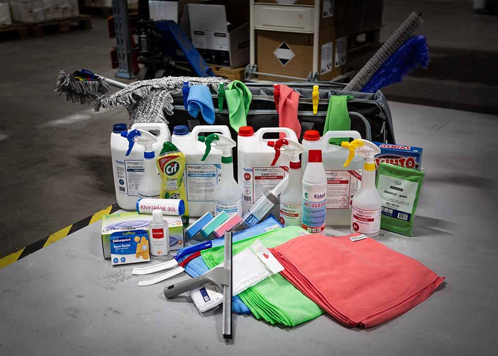 Handla professionella städprodukter online.